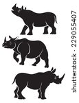 the picture shows a rhino | Shutterstock .eps vector #229055407