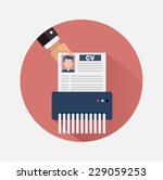 job candidate elimination | Shutterstock .eps vector #229059253