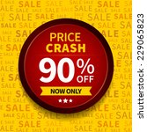 price crash sale label on... | Shutterstock .eps vector #229065823