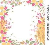 spring flowers frame decor in... | Shutterstock .eps vector #229072213