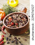 meat stew with red beans and... | Shutterstock . vector #229076527