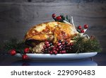 scrumptious roast turkey...   Shutterstock . vector #229090483