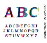 the colorful font consisting of ... | Shutterstock .eps vector #229090627