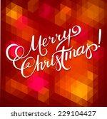 merry christmas hand lettering  ... | Shutterstock .eps vector #229104427