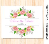 wedding invitation cards with... | Shutterstock .eps vector #229122283