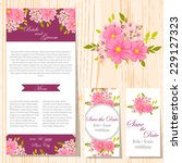 wedding invitation cards with... | Shutterstock .eps vector #229127323
