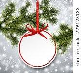 christmas paper card. winter...   Shutterstock .eps vector #229128133