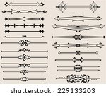 text divider collection | Shutterstock .eps vector #229133203