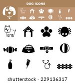 illustration of dog icon vector | Shutterstock .eps vector #229136317