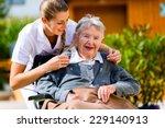 senior woman in nursing home... | Shutterstock . vector #229140913