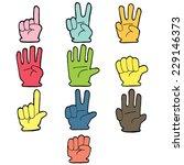 vector set of hand number...   Shutterstock .eps vector #229146373