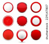 set of red round buttons on...