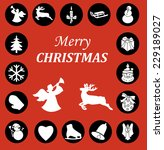 christmas icon set | Shutterstock .eps vector #229189027