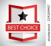 best choice badge with on white ...   Shutterstock .eps vector #229209907