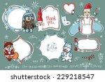 doodles badges label frame with ...