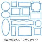 doodle hand draw vector frames | Shutterstock .eps vector #229219177