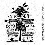 illustration of vector vintage... | Shutterstock .eps vector #229227493