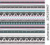 colorful aztec vintage pattern... | Shutterstock .eps vector #229235947