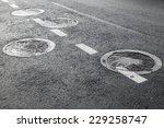 Sewer Manholes On Asphalt Road...