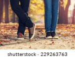 man woman leg couple  love... | Shutterstock . vector #229263763