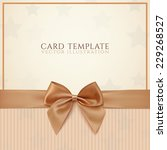 vintage greeting card template... | Shutterstock .eps vector #229268527