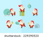 merry christmas. vector winter... | Shutterstock .eps vector #229290523