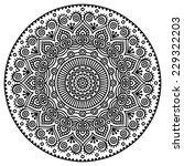 mandala. round ornament pattern.... | Shutterstock .eps vector #229322203