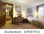 hotel bedroom interior | Shutterstock . vector #229357513