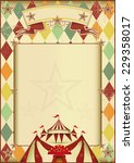 rhombuses circus vintage... | Shutterstock .eps vector #229358017