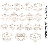 vector set   calligraphic... | Shutterstock .eps vector #229361467