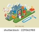 flat online web site shopping... | Shutterstock .eps vector #229361983