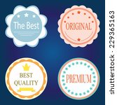 vector set with colorful badges   Shutterstock .eps vector #229365163