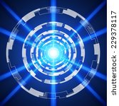 blue abstract technology... | Shutterstock .eps vector #229378117