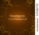 retro background with gears in... | Shutterstock .eps vector #229380733