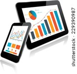 tablet pc and smart phone with...   Shutterstock .eps vector #229390987