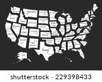 usa map of isolated states | Shutterstock .eps vector #229398433