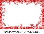 christmas frame | Shutterstock .eps vector #229399303