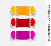 realistic design element ... | Shutterstock .eps vector #229405123