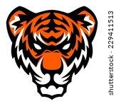 tiger head mascot. | Shutterstock .eps vector #229411513