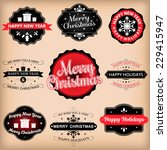 vintage retro labels vector... | Shutterstock .eps vector #229415947