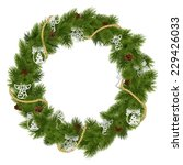 vector christmas wreath with...