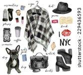 fashion illustration. new york... | Shutterstock . vector #229436593