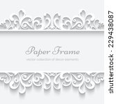 abstract paper frame with... | Shutterstock .eps vector #229438087