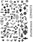 various elements of ornaments.... | Shutterstock .eps vector #22944373