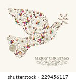 Vintage Christmas Peace Dove...