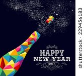 happy new year 2015 greeting... | Shutterstock .eps vector #229456183