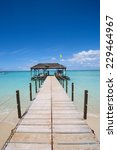 wooden jetty over the beautiful ...   Shutterstock . vector #229464967