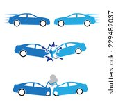 car crash and accidents   Shutterstock .eps vector #229482037