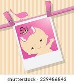 baby shower invitation... | Shutterstock .eps vector #229486843