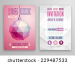christmas flyer   geometric... | Shutterstock .eps vector #229487533